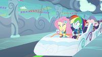 Fluttershy and Dash's coaster ride ends EGROF