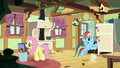 Fluttershy and Rainbow clean Fluttershy's kitchen S6E11.png