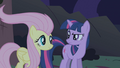 Fluttershy with licked hair S01E02.png