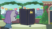 Maud Pie with Boulder on the dining table S6E3