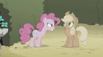 Pinkie Pie angry at Applejack S2E1