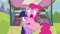 Pinkie Pie clinging to Twilight S4E22.png