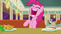 Pinkie Pie excitedly --Turns out...-- S6E9