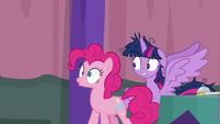 Pinkie Pie having a realization S9E16