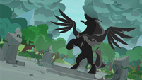 Pony of Shadows cackling to the sky S7E25