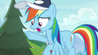 Rainbow Dash begs cheer squad to wait S9E15