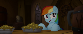 Rainbow Dash confused by turn of events MLPTM
