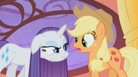 Rarity is not amused by Applejack's dare S01E08