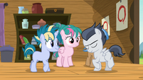 Rumble and camper colt briefly dancing S7E21