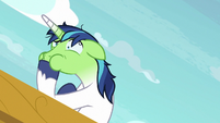 Shining Armor about to throw up S7E22