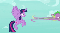 Spike zooms off after the roc S8E11