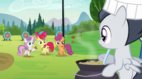 Sweetie Belle invites Rumble to the obstacle course S7E21