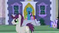 Twilight and Spike in front of Minuette's house S5E12.png