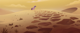 Twilight discovers a long desert road MLPTM