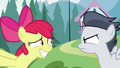 Apple Bloom grinning awkwardly at Rumble S7E21.png