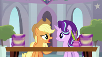 """Applejack """"I don't know about all this"""" S8E1"""