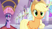 Applejack describing things she will do in Ponyville S4E1