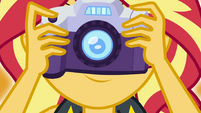 Close-up of Sunset Shimmer and her camera EGFF