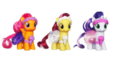 Cutie Mark Crusaders Wedding Flower Fillies set.png