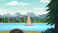 Derpy and Sandalwood in a sailboat EG4.png