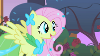 Fluttershy elated to hear a meadowlark S1E26