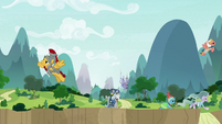Pillars of Equestria getting into position S9E24