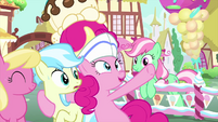 "Pinkie ""dip in the rainbow sprinkle pool!"" MLPS5"