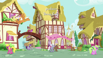 Ponies walk and fly through Ponyville S9E16