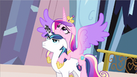 Princess Cadance wings spread out S3E2