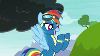 Rainbow Dash --shoot off a lightning bolt-- S6E7