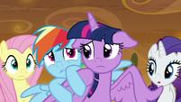 Rainbow Dash hiding behind Twilight S9E2