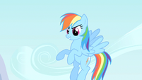 Rainbow Dash reinforcing the elements of a good cheer S1E16