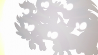 Rainbow Power Mane Six silhouettes S5E13