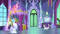 Rarity falls over onto the floor again MLPS2