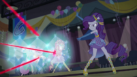 Rarity shields her friends from laser fire EGDS50