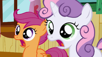 Scootaloo & Sweetie Belle jaw drop S2E17