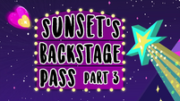 Sunset's Backstage Pass part 3 title card EGSBP