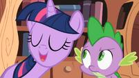 Twilight Sparkle asking Spike S2E03