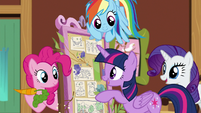 Twilight Sparkle suggests a library cave S7E5