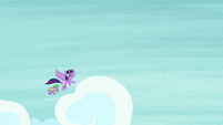 Twilight and Spike flying to Canterlot S9E5