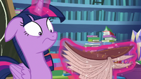 Twilight shaking the book up and down MLPBGE