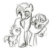 Unicorn Family Sketch