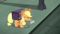 Applejack kicking her hooves in preparation S5E16.png