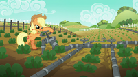 Applejack returns to the master valve S6E10