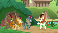 Autumn Blaze talking to her friends S8E23