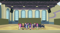 Cheerilee and students looking at Fluttershy CYOE2b