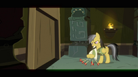 Daring Do brushing arrows off pith helmet S2E16