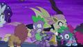 Flutterbat rips Spike's costume head S5E21.png