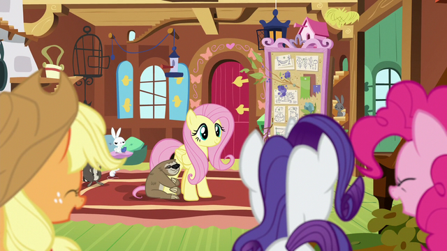File:Fluttershy's friends proud of her S7E5.png