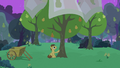 Grand Pear taking care of his pear trees S7E13.png